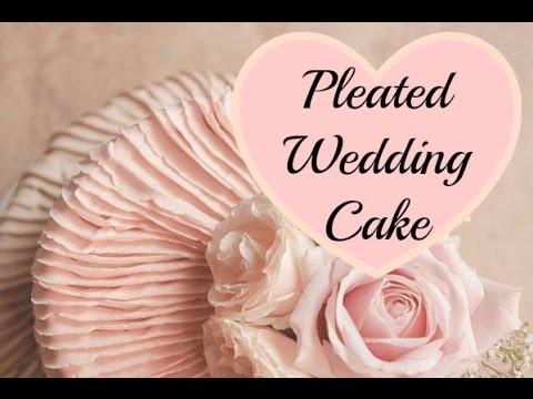 Pleated Buttercream Cake Decorating & Fresh Flowers - CAKE STYLE