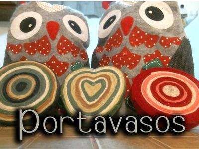 Portavasos hechos con fieltro♥.cupholders made with felt