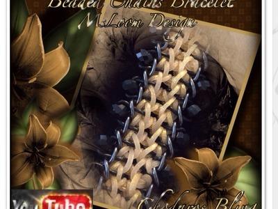 Rainbow Loom Band Beaded Chains Bracelet Tutorial. How to