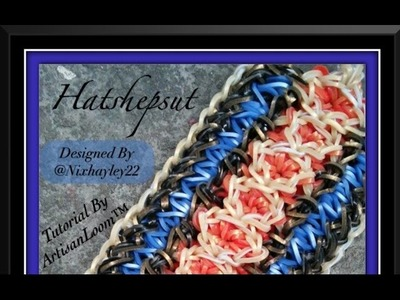 Rainbow Loom Band Hatshepsut Bracelet Tutorial.How To