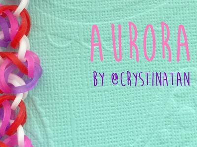 Rainbow loom bands Tutorial Aurora by @CrystinaTan