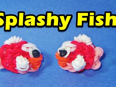 Rainbow Loom FISH (Splashy Fish) Charm (Easy, Flappy Bird, Gumičky návod)