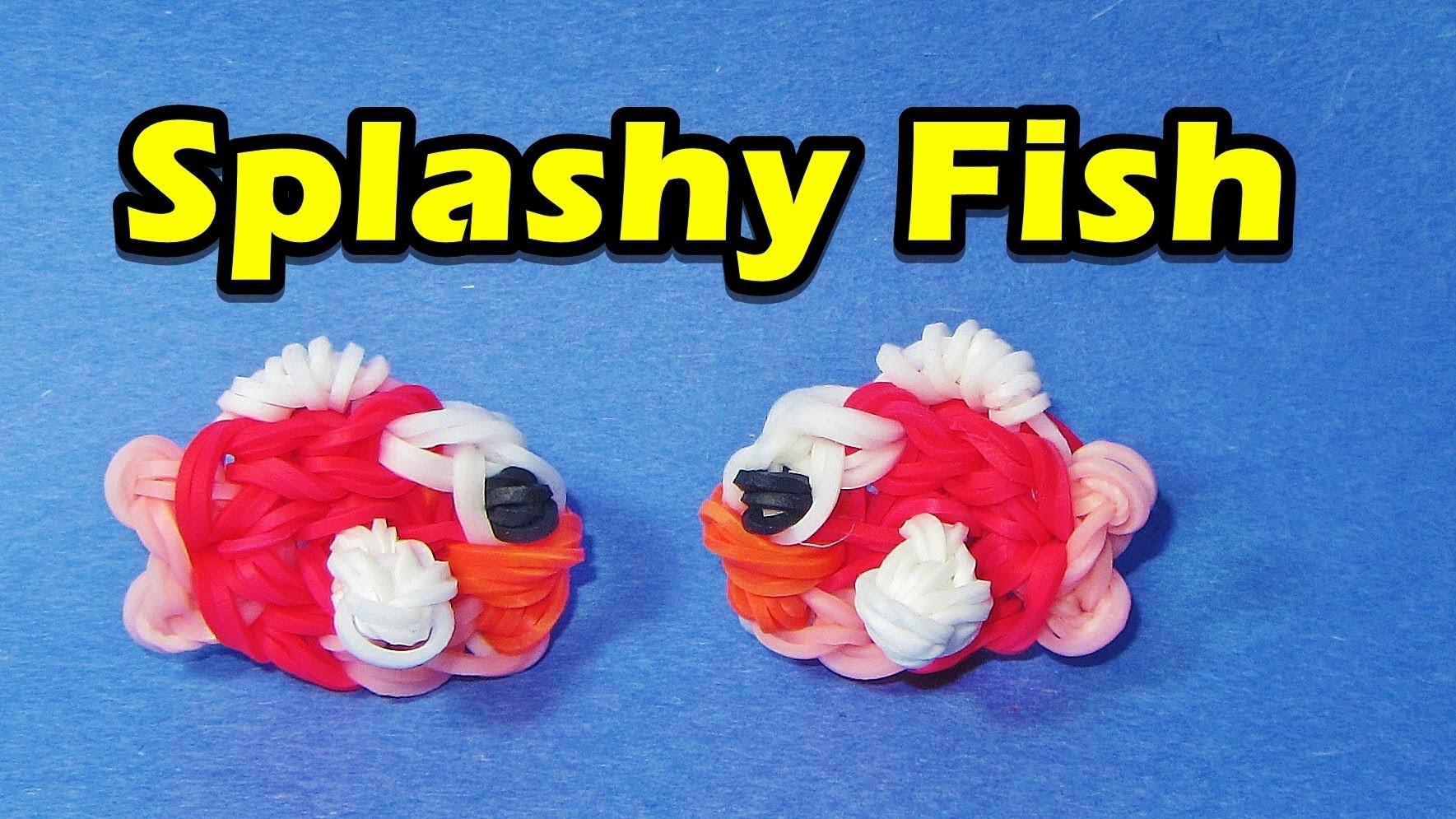 Rainbow Loom FISH (Splashy Fish) Charm (Easy, Flappy Bird, Gumičky návod)