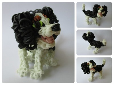 Rainbow Loom king charles cavalier puppy Part 1.2 Loombicious