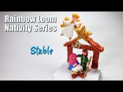 Rainbow Loom Nativity Series: Stable
