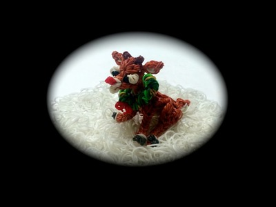 Rainbow Loom Rudolph the Red-Nosed Reindeer (1 Loom)