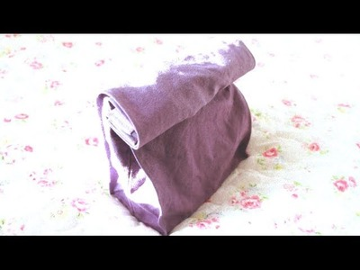 Sewing + Refashion DIY Tote Bag to Lunch Bag Clutch