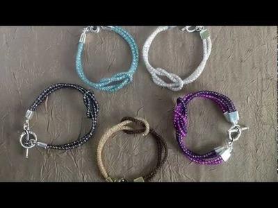 SilverSilk Love Knot Bracelet and Double Love Knot Bracelet