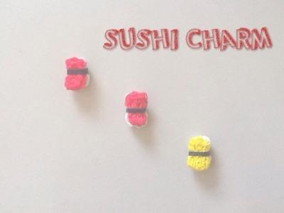 Sushi Charm Rainbow Loom Tutorial
