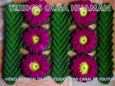 Tejido en crochet : video 3, como unir la flor y la hoja
