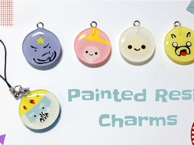 Tutorial : Adventure Time Painted Resin Charms