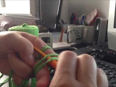 Tutorial: Circulo Mágico fácil para trapillo. magic ring for t-shirt yarn