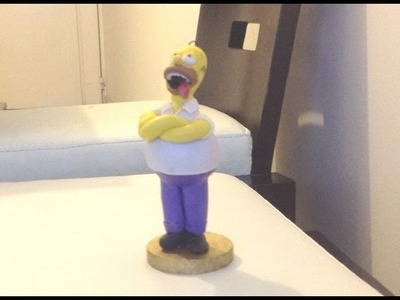 Tutorial Homero. Homer (plastilina, porcelana fria, clay)