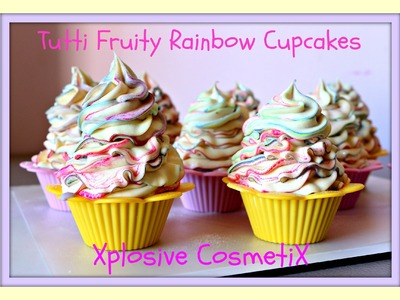 Tutti Fruity Rainbow Cupcakes - Making Cold Process Soap