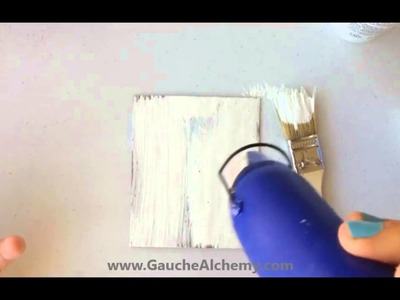 Using Glue To Achieve A Crackle Effect