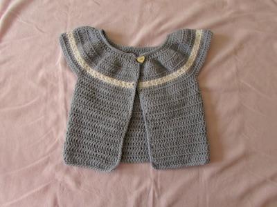 VERY EASY women's crochet star stitch cardigan. sweater. jumper tutorial