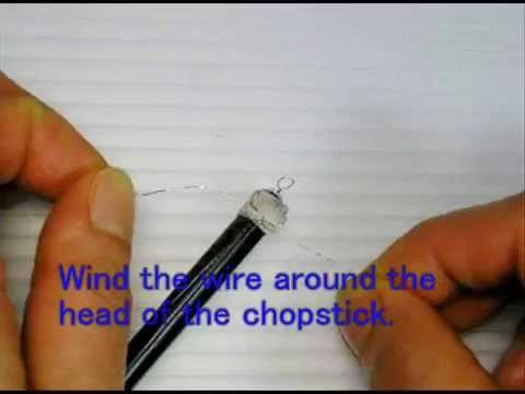 [Z's file 4-eng]Making of a long Ornamental Hairpin 1 (out of a chopstick)