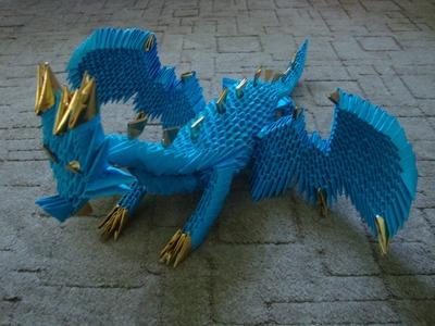 3D origami dragon tutorial (part 3)