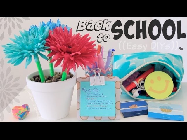 7 Easy Back To School DIYs - SoCraftastic