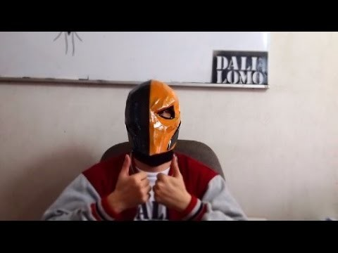 #88: Deathstroke Mask DIY - Part 3: how to FAKE Carbon-Fiber & Paint