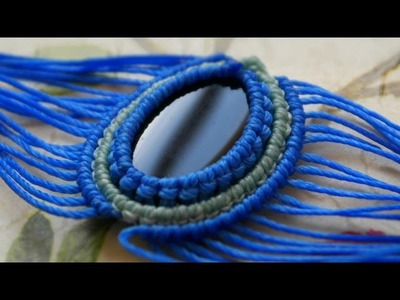 A Different Macrame Style of Adding a New Color Around Your Cabochon
