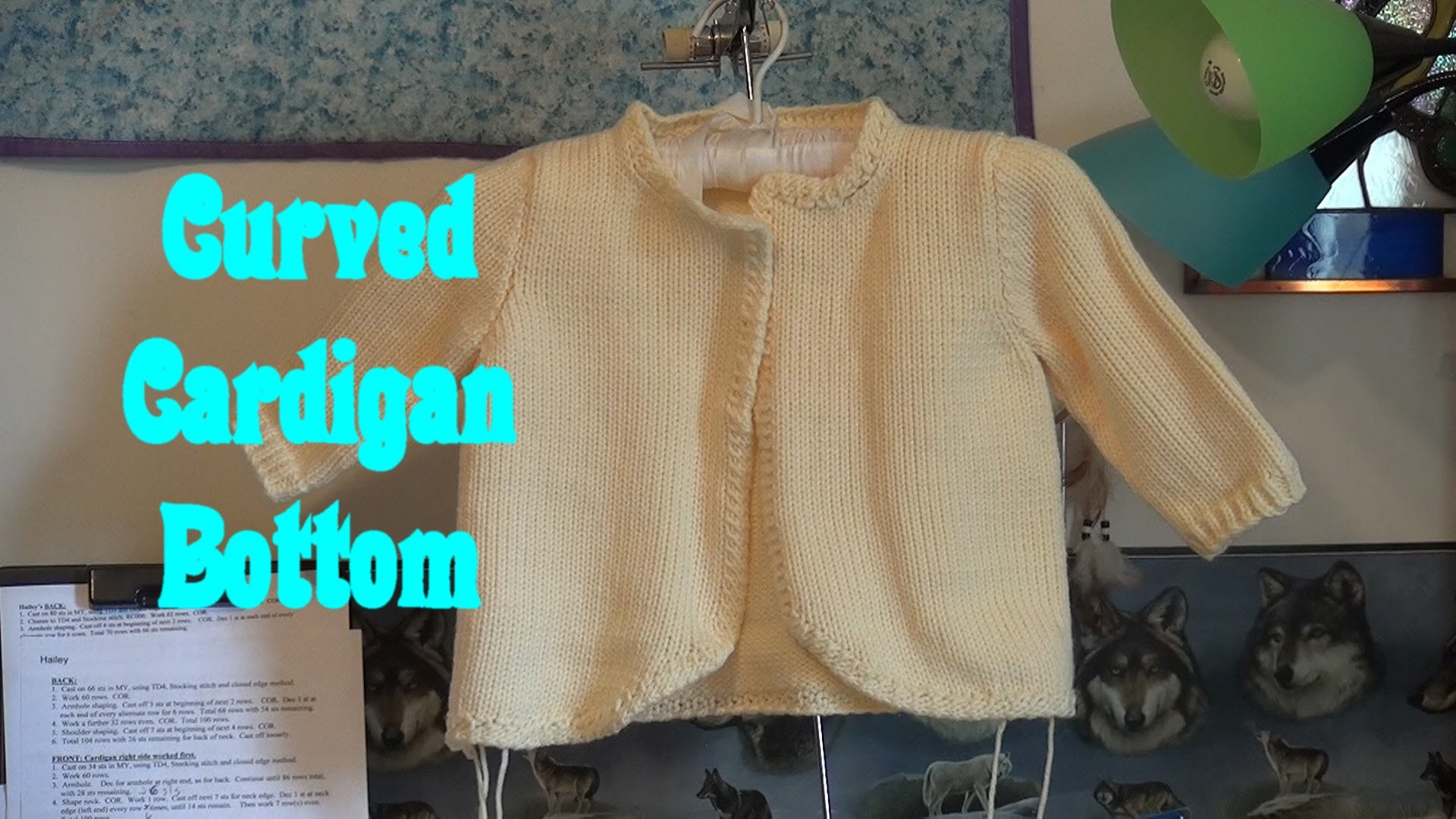 Adding a Curve to a Cardigan