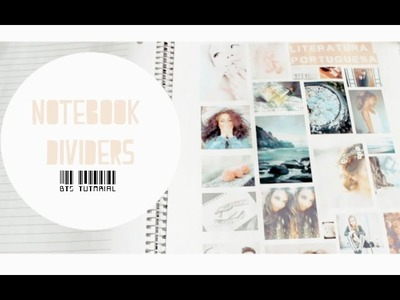 Back To School: Notebook Dividers DIY   Epiphany