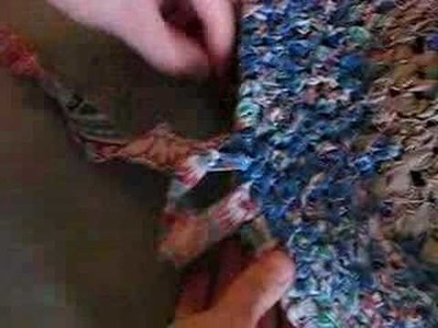 Basic Instructions to Make a Rag Rug - (6) FINISHING
