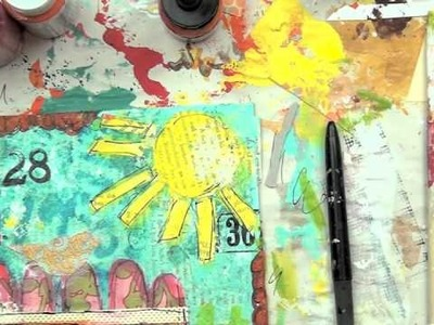 Behind the Art with Christy Tomlinson : Fly birdie Fly mixed media canvas