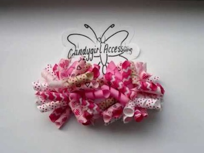 CandyGirls Hair Accessories, Korker bows, hair clips, head bands.wmv