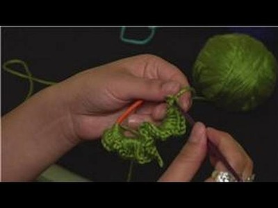 Crochet a Crinkle Scrunchie : Crocheted Scrunchie Crinkling
