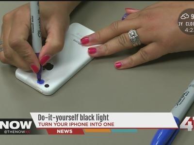 DIY Black light on your smartphone