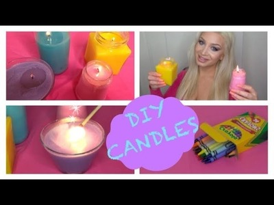 DIY Colorful Crayon Candles (NO WAX)