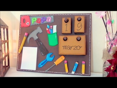 DIY crafts: EVA foam Calendar Fathers Day Gift - handmade - Youtube - Isa ❤️