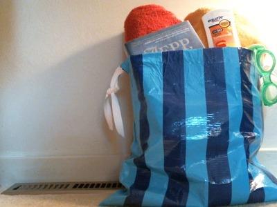 DIY Duct Tape Beach Bag