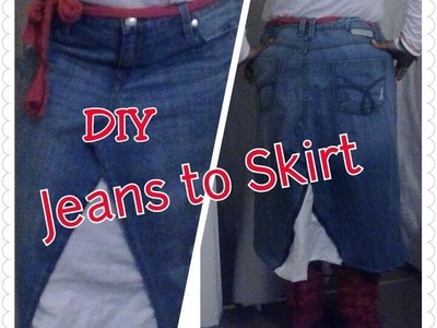 DIY: JEANS TO A SKIRT!!!!
