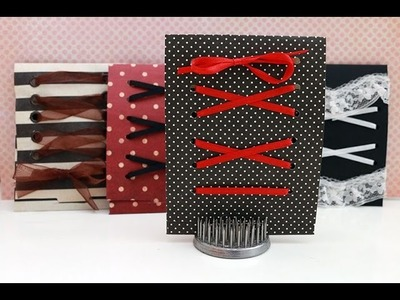 DIY Lace Up Gift Card Holder