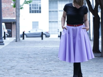 DIY Midi Circle Skirt with Pockets : No Pattern!