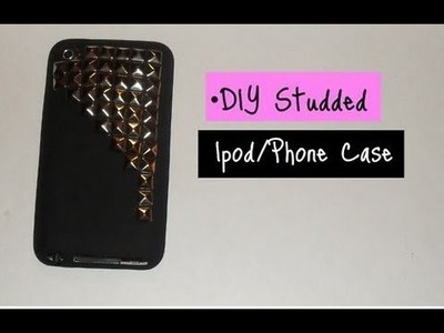 DIY | Studded Ipod.Cell Phone Case
