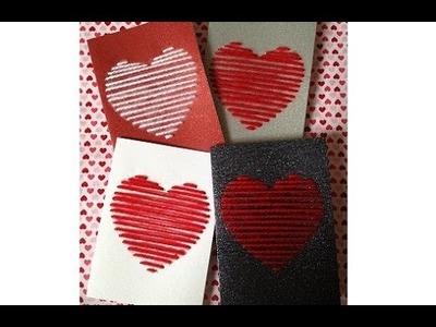{DIY} Thread Valentine's Day Card