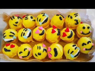 DIY V-Day Emoji Cake Balls