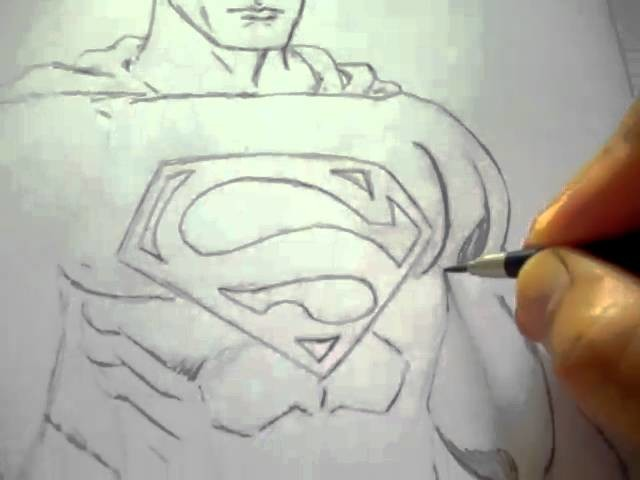 Drawing Superman