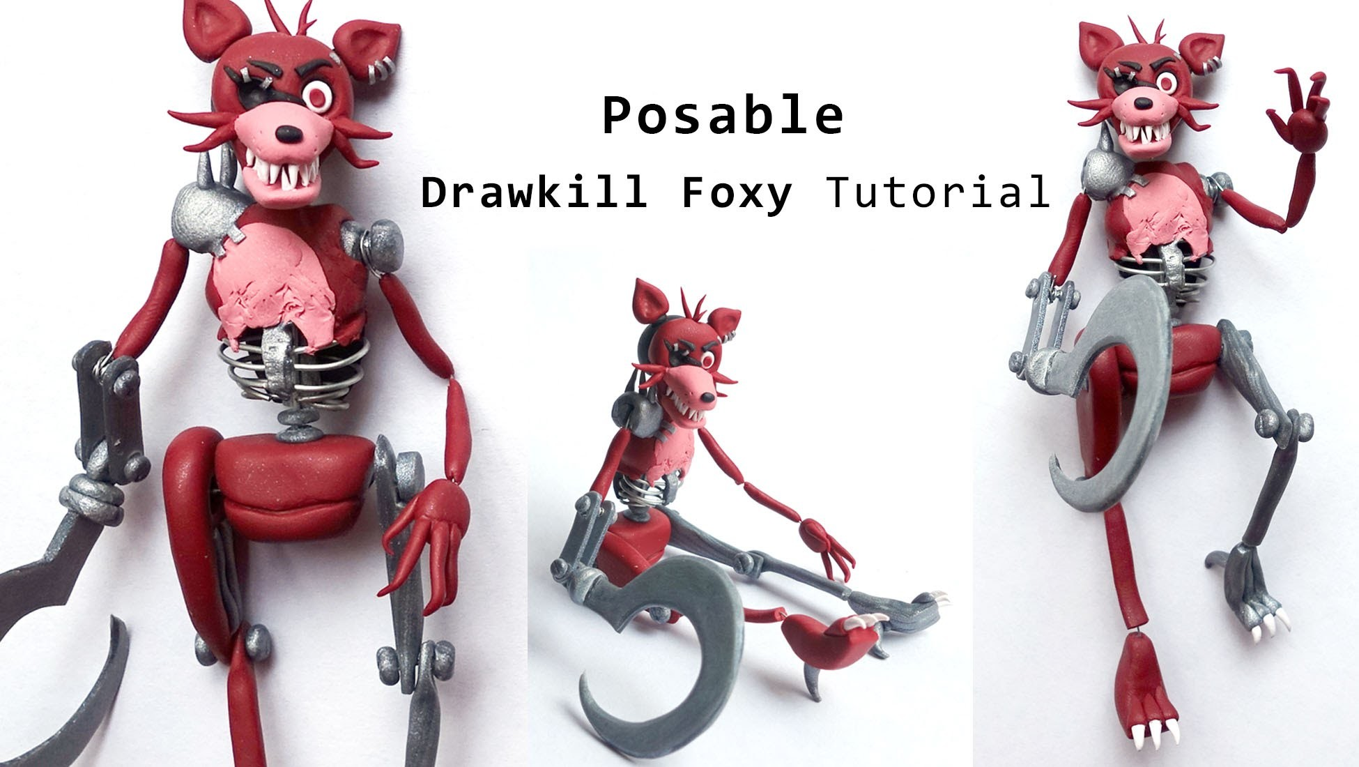 Drawkill Foxy Posable Figure Polymer Clay Tutorial
