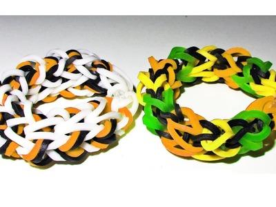 EASY Loom. Bands: How to Make a Rainbow Loom Dragon Bone Bracelet