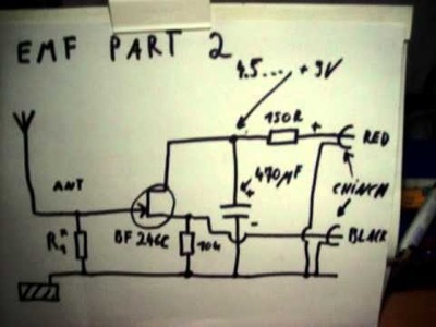 EMF Detector homemade Part 2