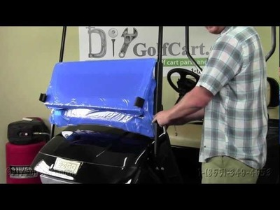 EZGO TXT.Medalist Folding Windshield | How to Install Video | Installing a Golf Cart Windshield