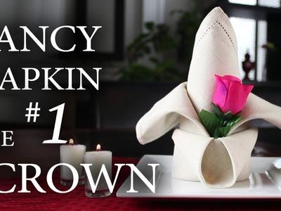 """Fancy Napkin #1 - The """"Crown"""""""