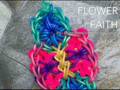 FLOWER FAITH Rainbow Loom bracelet tutorial