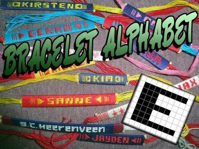 Friendship Bracelet Crochet Yarn, Alphabet: Letter E