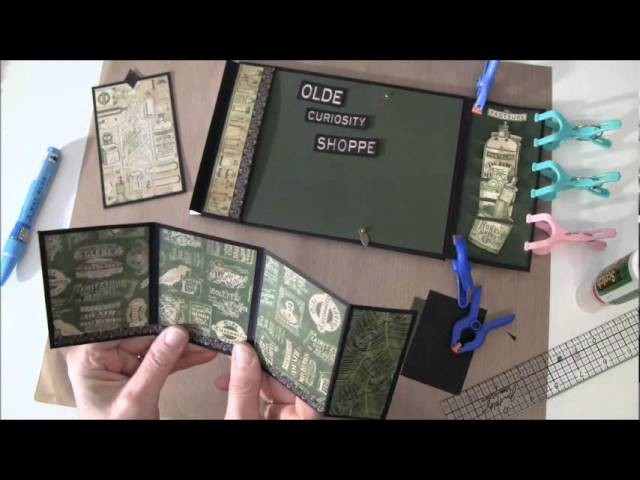 How to build a photo mini album with G45 Olde Curiosity Shoppe paper collection Part 8